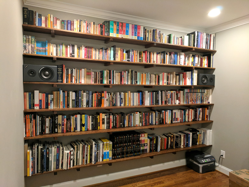 How to build a hanging shelf built in bookcase for How to make a hanging bookshelf