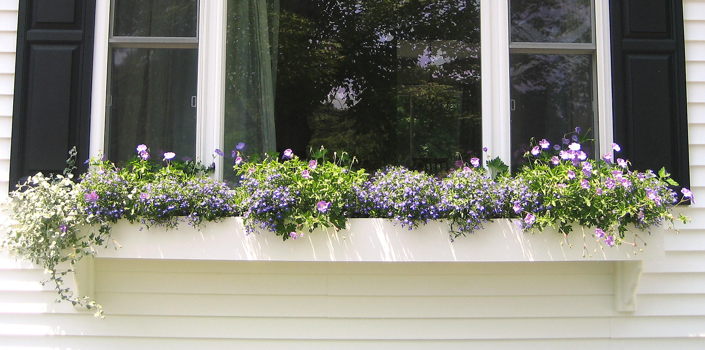 How To Build A Picture Window Sized Window Box On Vinyl